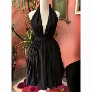 NWT Vintage Inspired Black Halter Dress Small